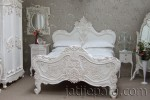 Carved Bed White Furniture Painted