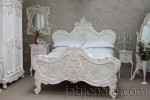 Carved Bed White KSM 11