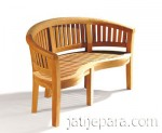 Contemporary Teak Banana Bench outdoor furniture