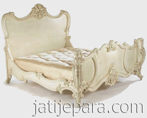 French Style Furniture Louis carved bed