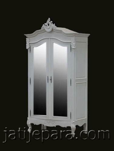 Armoire 2 Door With Glass French Furniture Indonesia