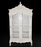 Louis Armoire with glass white painted furniture