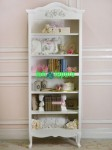 Book Case White Furniture Minimalis