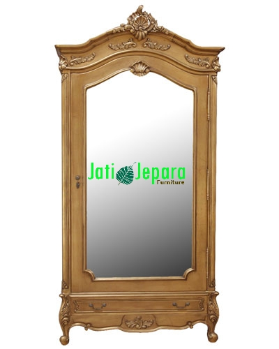 French Gold leaf 1 Door Armoire