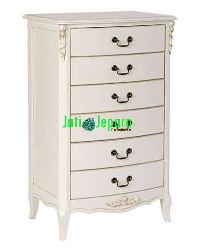 White Painted Wellington Chest