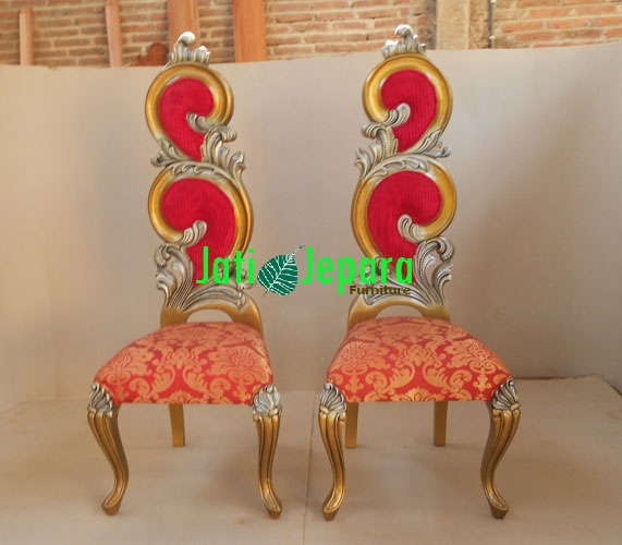 Luxurious French Style Gold Leaf Chair