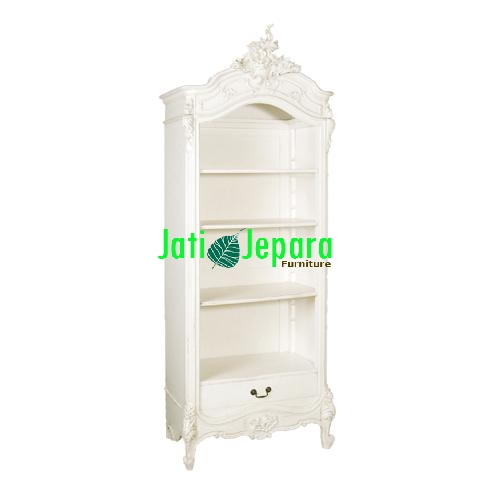 White French Open Bookcase