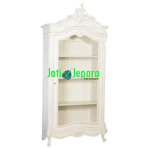White French Showcase Cabinet
