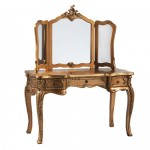 Gold Dressing Table With Mirror