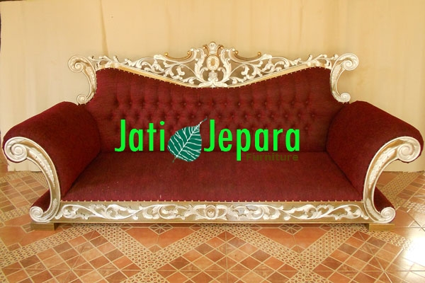 Gold Silver Sofa 3 Seater