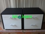 Bedside Table Minimalis Black And White