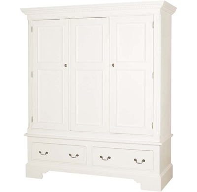 White triple wardrobe
