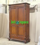 French Armoire 2 Door Antique Mahogany
