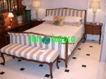 French Provincial Louis Style Sleigh Bed