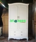 French Armoire 2 Door White