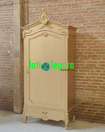 Armoire-1-Door-Gold-French-Style