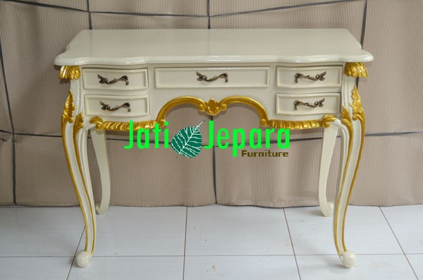 Dressing Table Ivory Gold DT 11