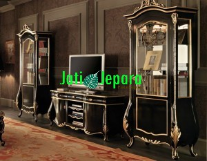 Buffet-TV-Ukir-Duco-Hitam