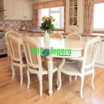 Set Dining Table American Style Rotan